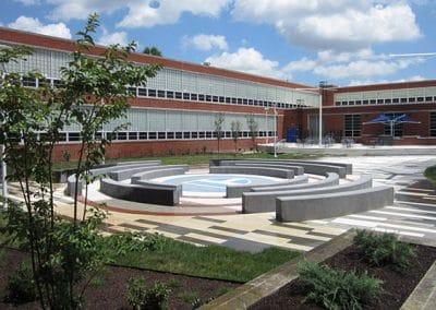 Paducah Tilghman High School Courtyard